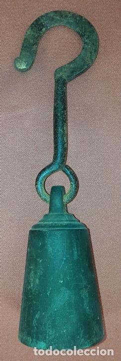 Antigüedades: ANTIGUA ROMANA CON 3 GANCHOS Y PESO. HIERRO. ESPAÑA. SIGLO XIX. - Foto 9 - 84203152