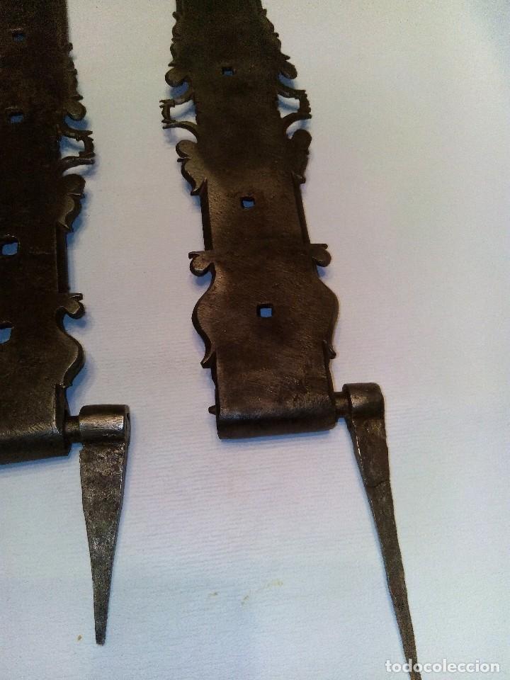 Antigüedades: BISAGRA ANTIGUA DE HIERRO FORJADO - Foto 5 - 84258864