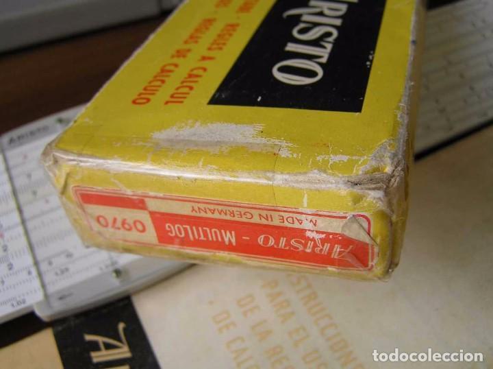 Antigüedades: REGLA DE CALCULO ARISTO MULTILOG 0970 - CALCULADORA SLIDE RULE RECHENSCHIEBER 970 - Foto 9 - 84303164