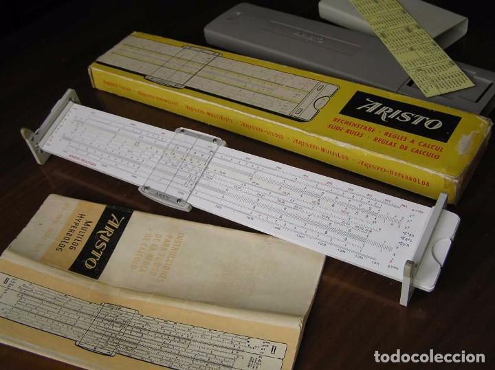 Antigüedades: REGLA DE CALCULO ARISTO MULTILOG 0970 - CALCULADORA SLIDE RULE RECHENSCHIEBER 970 - Foto 14 - 84303164