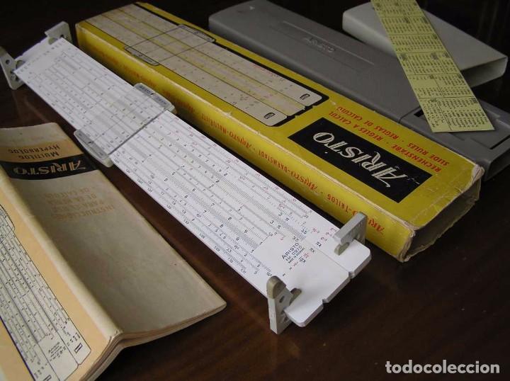 Antigüedades: REGLA DE CALCULO ARISTO MULTILOG 0970 - CALCULADORA SLIDE RULE RECHENSCHIEBER 970 - Foto 18 - 84303164