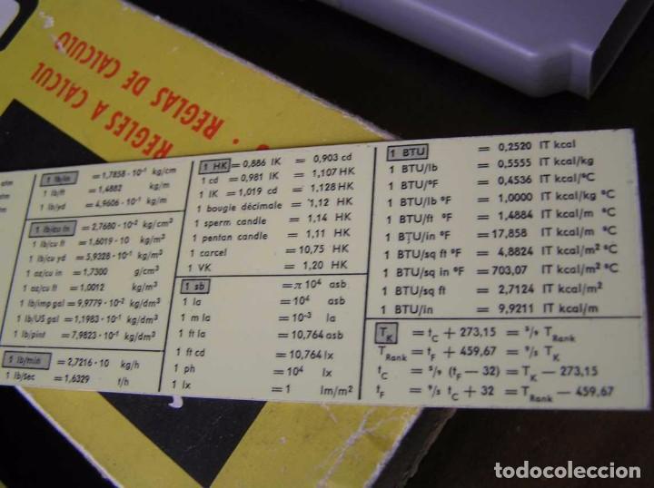 Antigüedades: REGLA DE CALCULO ARISTO MULTILOG 0970 - CALCULADORA SLIDE RULE RECHENSCHIEBER 970 - Foto 23 - 84303164