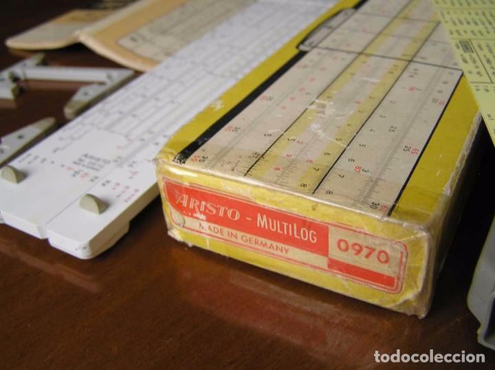 Antigüedades: REGLA DE CALCULO ARISTO MULTILOG 0970 - CALCULADORA SLIDE RULE RECHENSCHIEBER 970 - Foto 39 - 84303164