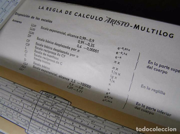 Antigüedades: REGLA DE CALCULO ARISTO MULTILOG 0970 - CALCULADORA SLIDE RULE RECHENSCHIEBER 970 - Foto 54 - 84303164