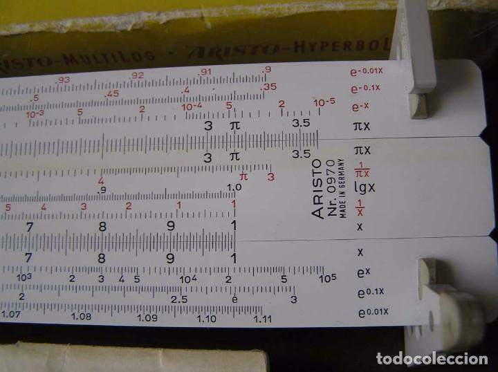 Antigüedades: REGLA DE CALCULO ARISTO MULTILOG 0970 - CALCULADORA SLIDE RULE RECHENSCHIEBER 970 - Foto 59 - 84303164