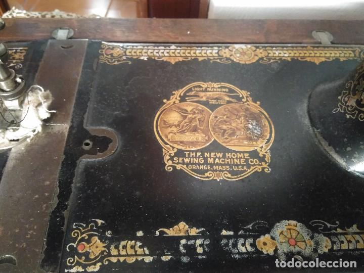 Antigüedades: MÁQUINA DE COSER NEW HOME. - Foto 2 - 84403652