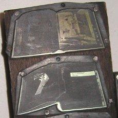 Antigüedades: ANTIGUA PLANCHA DE IMPRENTA CON LOGOTIPOS DE RADIO ESPAÑA DE BARCELONA DÉCADA 60-70. Lote 84435032