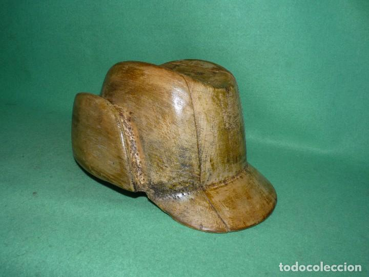 genial molde horma gorra sombrero madera original maniqui industrial aos bauhaus coleccion antigedades