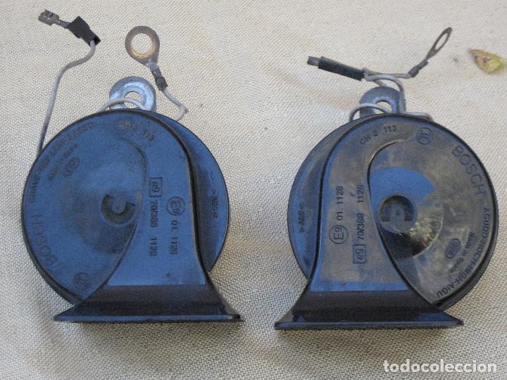 LOTE DE DOS CLAXON O BOCINAS PARA AUTOMOVILES - MARCA BOSCH. (Antigüedades - Técnicas - Herramientas Profesionales - Mecánica)