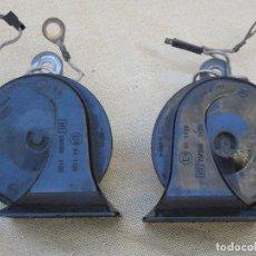 Antigüedades: LOTE DE DOS CLAXON O BOCINAS PARA AUTOMOVILES - MARCA BOSCH.. Lote 84497216
