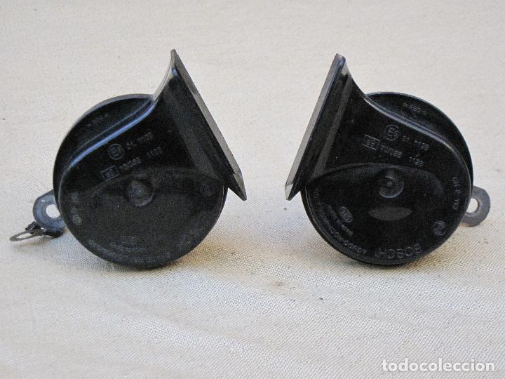 Antigüedades: LOTE DE DOS CLAXON O BOCINAS PARA AUTOMOVILES - MARCA BOSCH. - Foto 2 - 84497216