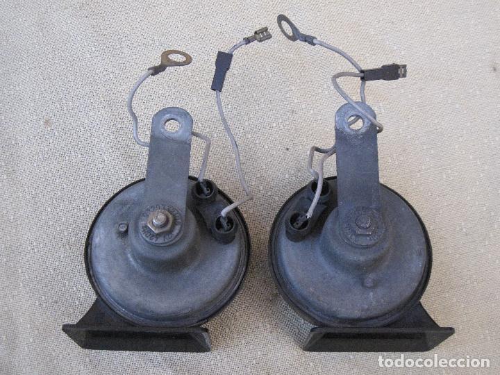 Antigüedades: LOTE DE DOS CLAXON O BOCINAS PARA AUTOMOVILES - MARCA BOSCH. - Foto 5 - 84497216