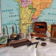 Antigüedades: COMPLETO JUEGO DE BARBERÍA Y PELUQUERÍA MASCULINO AÑOS 30-40. Lote 18332114