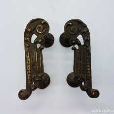 Antigüedades: IMPRESIONANTES TIRADORES MODERNISTAS FABRICADOS EN BRONCE DE DISEÑO ORIGINAL.. Lote 84603380