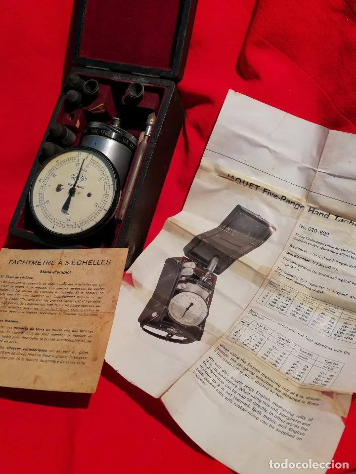 Antigüedades: ANTIGUO TACOMETRO JAQUET FIVE RANGE( SWISS MADE) -CONTADOR DE REVOLUCIONES- COMPLETO!!! - Foto 3 - 84669496