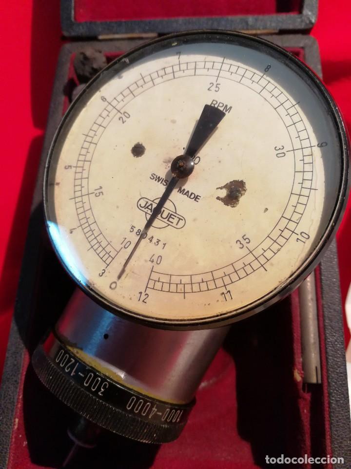 Antigüedades: ANTIGUO TACOMETRO JAQUET FIVE RANGE( SWISS MADE) -CONTADOR DE REVOLUCIONES- COMPLETO!!! - Foto 4 - 84669496