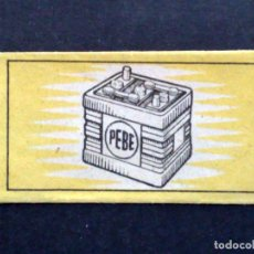 Antigüedades: HOJA DE AFEITAR ANTIGUA-PEBE-OBSEQUIO DE NIFE,S.A.-MADRID-BARCELONA-BILBAO-VINTAGE. Lote 84698520