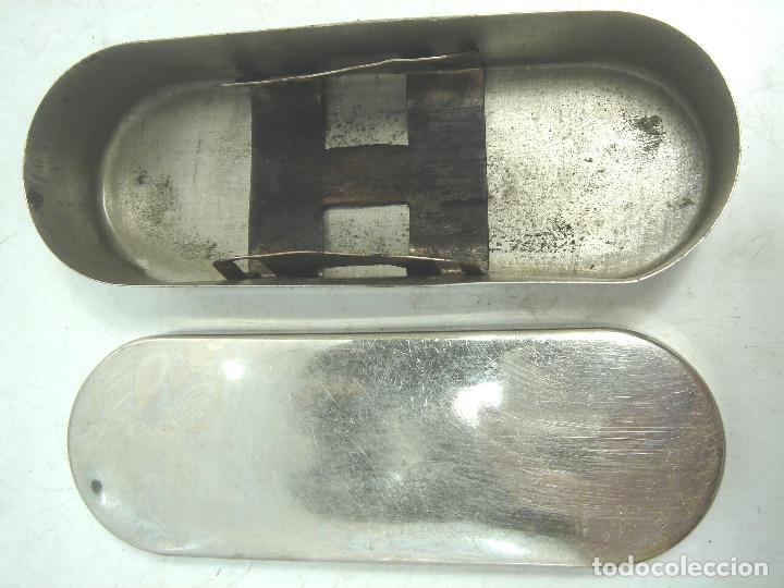 Antigüedades: CAJA ACERO INOX 13 CMS + JERINGUILLA CRISTAL ICO CLARA 5CC ¡¡NUEVA¡¡-ANTIGUO ESTERILIZADOR JERINGA - Foto 3 - 84800040
