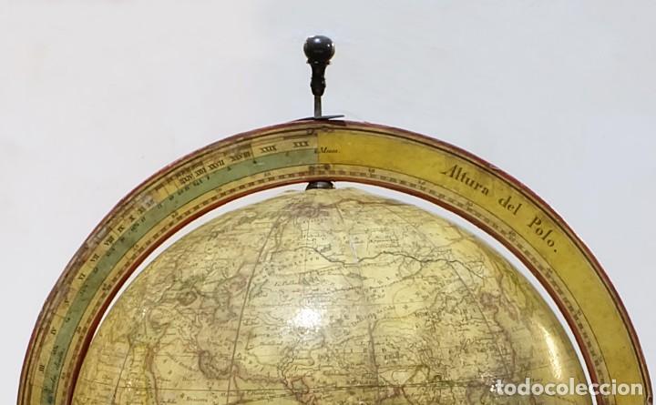 Antigüedades: 1825 - Globo Terráqueo de Antonio Monfort - Sólo 3 ejemplares catalogados - PRIMER GLOBO ESPAÑOL. - Foto 3 - 84843992