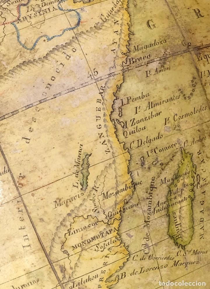 Antigüedades: 1825 - Globo Terráqueo de Antonio Monfort - Sólo 3 ejemplares catalogados - PRIMER GLOBO ESPAÑOL. - Foto 4 - 84843992