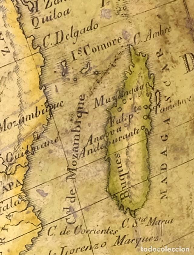 Antigüedades: 1825 - Globo Terráqueo de Antonio Monfort - Sólo 3 ejemplares catalogados - PRIMER GLOBO ESPAÑOL. - Foto 5 - 84843992