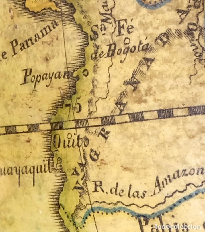 Antigüedades: 1825 - Globo Terráqueo de Antonio Monfort - Sólo 3 ejemplares catalogados - PRIMER GLOBO ESPAÑOL. - Foto 6 - 84843992