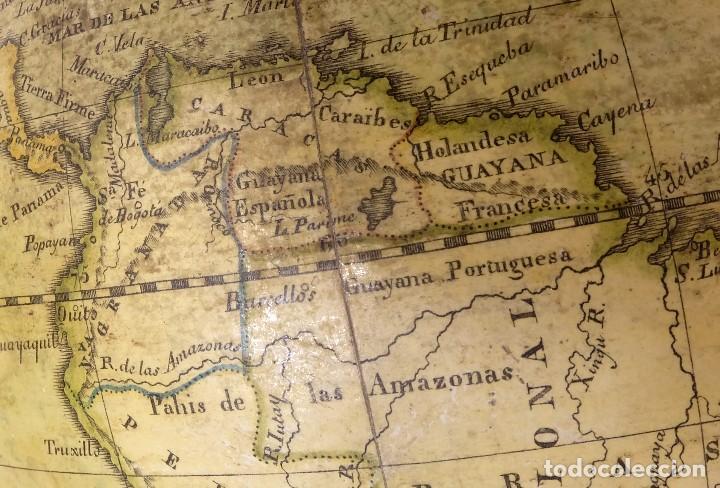 Antigüedades: 1825 - Globo Terráqueo de Antonio Monfort - Sólo 3 ejemplares catalogados - PRIMER GLOBO ESPAÑOL. - Foto 9 - 84843992