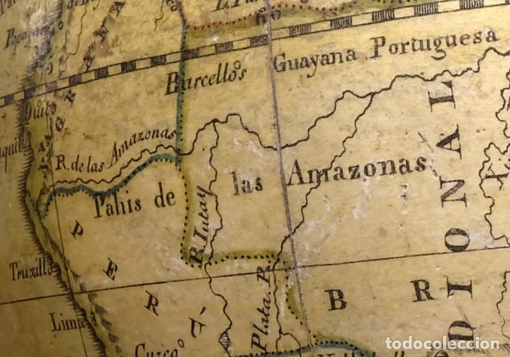 Antigüedades: 1825 - Globo Terráqueo de Antonio Monfort - Sólo 3 ejemplares catalogados - PRIMER GLOBO ESPAÑOL. - Foto 11 - 84843992