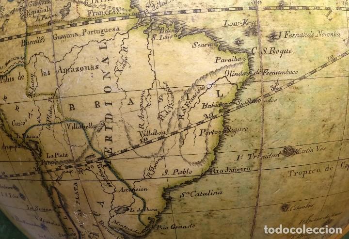 Antigüedades: 1825 - Globo Terráqueo de Antonio Monfort - Sólo 3 ejemplares catalogados - PRIMER GLOBO ESPAÑOL. - Foto 12 - 84843992