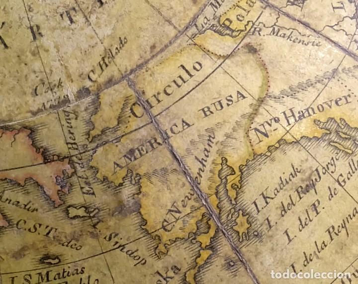 Antigüedades: 1825 - Globo Terráqueo de Antonio Monfort - Sólo 3 ejemplares catalogados - PRIMER GLOBO ESPAÑOL. - Foto 13 - 84843992