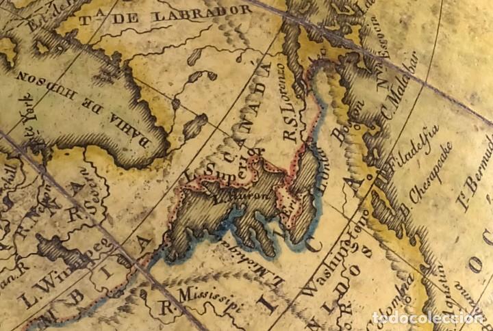 Antigüedades: 1825 - Globo Terráqueo de Antonio Monfort - Sólo 3 ejemplares catalogados - PRIMER GLOBO ESPAÑOL. - Foto 15 - 84843992