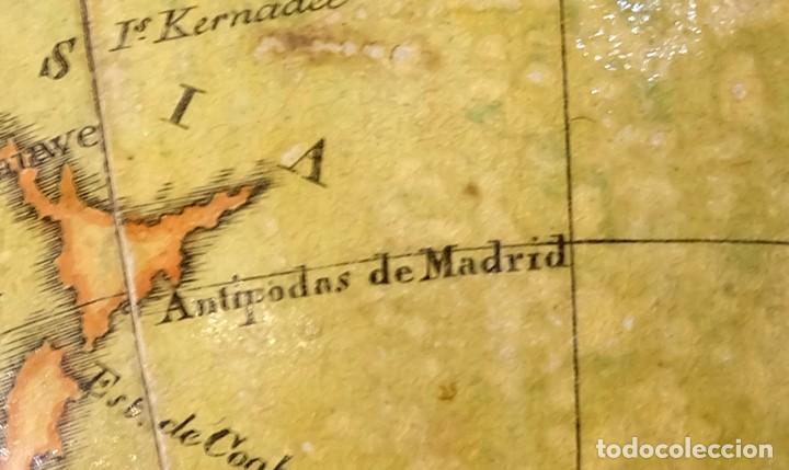Antigüedades: 1825 - Globo Terráqueo de Antonio Monfort - Sólo 3 ejemplares catalogados - PRIMER GLOBO ESPAÑOL. - Foto 17 - 84843992