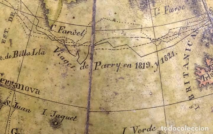Antigüedades: 1825 - Globo Terráqueo de Antonio Monfort - Sólo 3 ejemplares catalogados - PRIMER GLOBO ESPAÑOL. - Foto 19 - 84843992