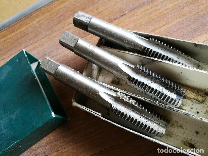 JUEGO DE MACHOS PARA ROSCA MANUAL EN 3 PASOS --FO 3/4 PULGADA (REF-PEÑ1) (Antigüedades - Técnicas - Herramientas Profesionales - Mecánica)