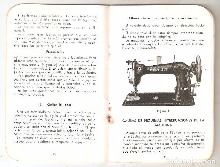 Antigüedades: Maquina coser Wertheim, instrucciones 8,5 x 13 cms. 28 paginas. Vell i Bell - Foto 2 - 84860740