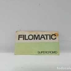 Antigüedades: HOJA DE AFEITAR FILOMATIC SUPERCROMO - MADE IN SPAIN - BASSAT, S.A. - BARCELONA. Lote 84946312