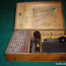 Antigüedades: IMPRENTILLA LETRAS DE METAL FRANCESA. Lote 100668934