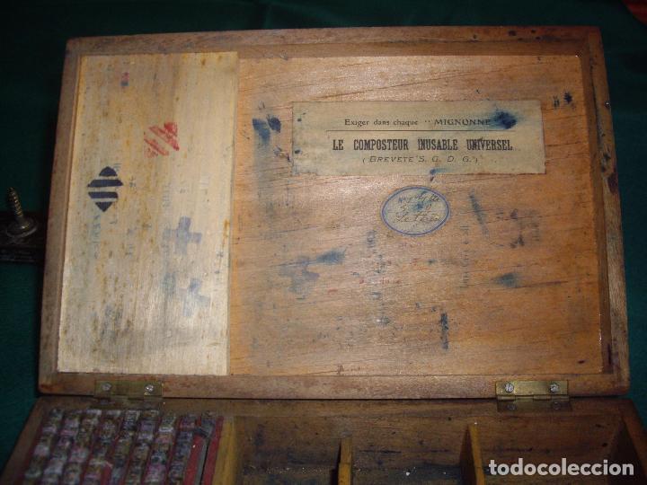 Antigüedades: IMPRENTILLA LETRAS DE METAL FRANCESA - Foto 4 - 100668934