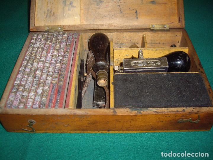 Antigüedades: IMPRENTILLA LETRAS DE METAL FRANCESA - Foto 5 - 100668934