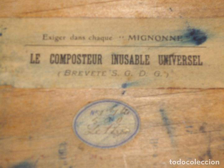 Antigüedades: IMPRENTILLA LETRAS DE METAL FRANCESA - Foto 6 - 100668934