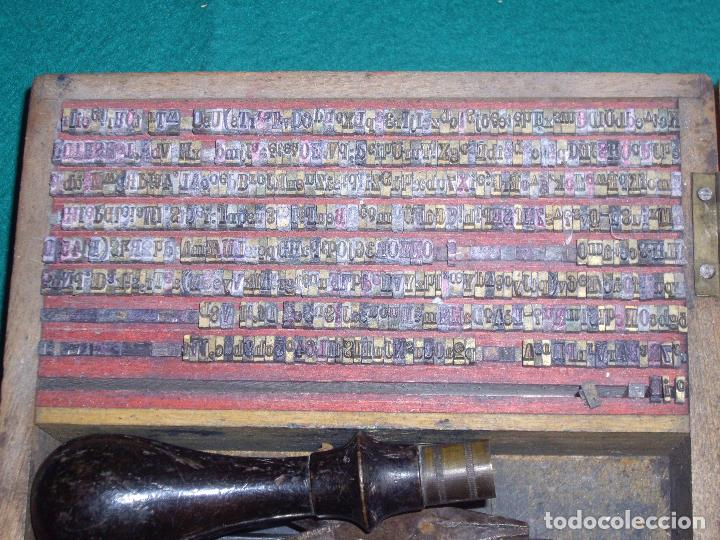 Antigüedades: IMPRENTILLA LETRAS DE METAL FRANCESA - Foto 9 - 100668934