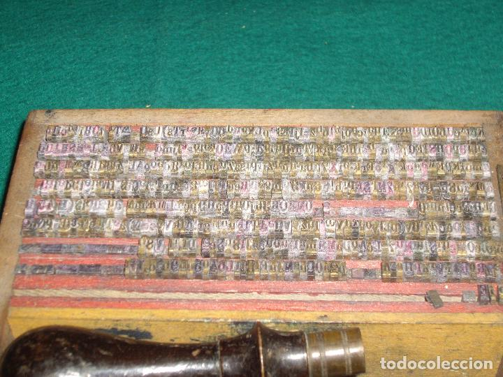 Antigüedades: IMPRENTILLA LETRAS DE METAL FRANCESA - Foto 10 - 100668934