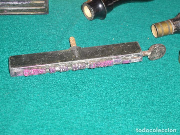 Antigüedades: IMPRENTILLA LETRAS DE METAL FRANCESA - Foto 11 - 100668934