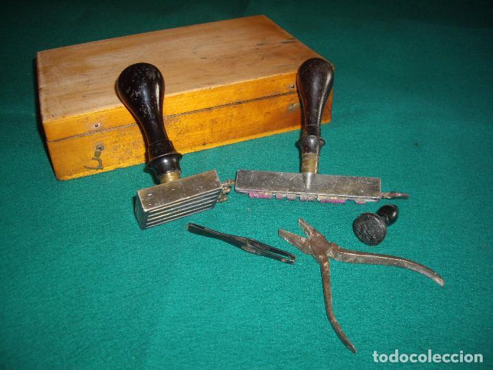 Antigüedades: IMPRENTILLA LETRAS DE METAL FRANCESA - Foto 12 - 100668934
