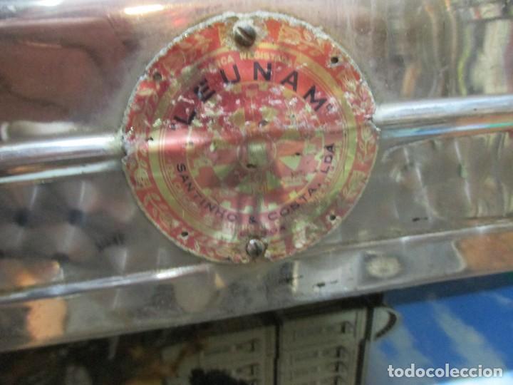 Antigüedades: RARA Y OPERATIVA BALANZA TENDERA EN ACERO INOX - APROX 10 KILOS FUERZA, HACIA 1960 + INFO - Foto 5 - 85072700