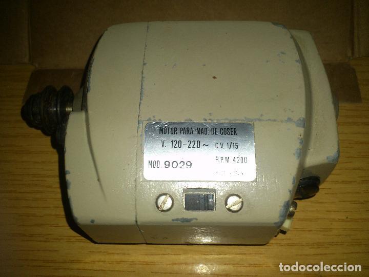 Antigüedades: motor maquina de coser funciona 110V/220V - Foto 2 - 85081440