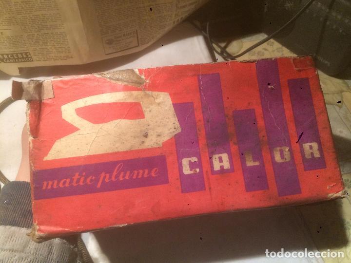 Antigüedades: Antigua plancha eléctrica marca Matic Plume años 60 en caja original - Foto 14 - 85253944