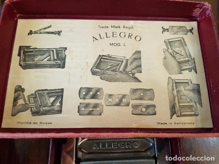 Antigüedades: afilador de cuchillas allegro .modelo L - Foto 10 - 85545388