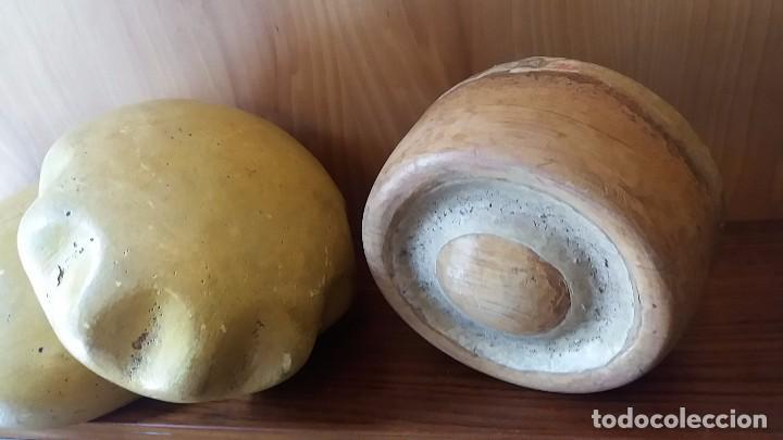 Antigüedades: Horma de sombrero 1850 artesanal en madera. Molde Matriz Formato S XIX - Foto 4 - 108025812