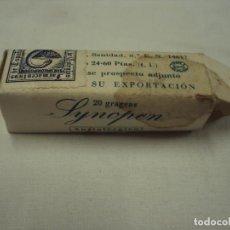 Antigüedades: MEDICAMENTO SINOPÉN ANTIALÉRGICO. Lote 85980300